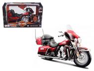2013 Harley Davidson FLHTK Electra Glide Ultra Limited Red Bike Motorcycle Model 1/12 Scale By Maisto 32323