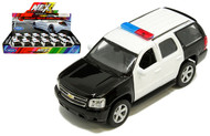 2008 Chevrolet Tahoe Police BOX OF 12 1/32 Scale Diecast Car Model By Welly 43607P
