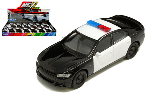 2016 Dodge Charger R/T Police BOX OF 12 1/32 Scale Diecast Car Model By Welly 43742F