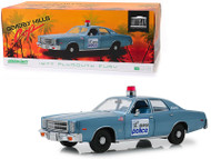 1977 PLYMOUTH FURY DETROIT POLICE BEVERLY HILLS COP MOVIE 1/18 SCALE DIECAST CAR MODEL BY GREENLIGHT 19069