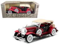 1934 Duesenberg II SJ Red & Black 1/18 Scale Diecast Model Car Model By Greenlight 12995