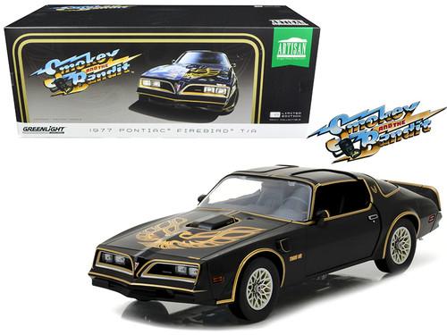 1977 PONTIAC FIREBIRD T/A TRANS AM BLACK SMOKEY & THE BANDIT 1977 1/18 SCALE DIECAST CAR MODEL BY  GREENLIGHT 19025