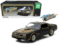 1977 PONTIAC FIREBIRD T/A TRANS AM BLACK SMOKEY & THE BANDIT 1977 1/18 SCALE DIECAST CAR MODEL BY  GREENLIGHT 19025