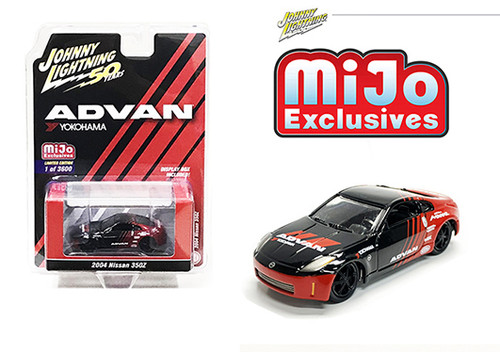 2004 NISSAN 350Z ADVAN YOKOHAMA 3600 MADE MIJO EXCLUSIVE 1/64 SCALE DIECAST CAR MODEL BY JOHNNY LIGHTNING JLCP7241