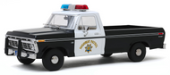 1975 FORD F-150 PICKUP TRUCK CALIFORNIA HIGHWAY PATROL CHP 1/18 SCALE DIECAST CAR MODEL BY GREENLIGHT 13550