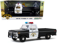 1975 FORD F-150 PICKUP TRUCK CALIFORNIA HIGHWAY PATROL CHP POLICE 1/18 SCALE DIECAST CAR MODEL BY GREENLIGHT 13550