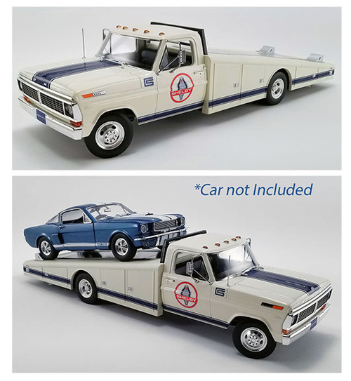 FORD F-350 RAMP TRUCK 1970 SHELBY 1/18 SCALE DIECAST MODEL BY ACME 1801404