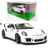 2016 Porsche 911 GT3 RS White 1/24 Scale Diecast Car Model By Welly 24080