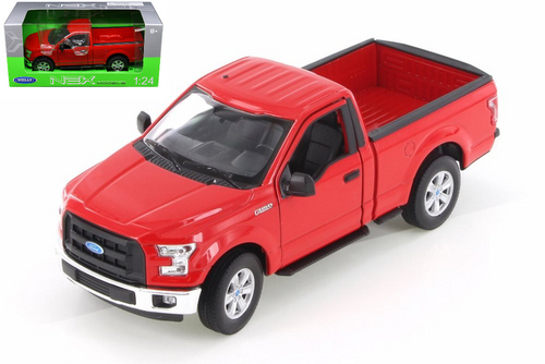 2015, Ford, F-150, Truck, Regular, Cab, White, 1/24, Scale, Diecast, Car, Model, Welly, 24063