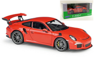 2016 Porsche 911 GT3 RS Orange 1/24 Scale Diecast Car Model By Welly 24080