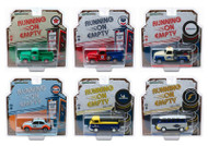 RUNNING ON EMPTY RELEASE 1 SET OF 6 1/43 SCALE DIECAST CAR MODEL BY GREENLIGHT 87010