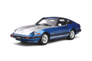 DATSUN 280 ZX TURBO 1982 BLUE METALLIC / FOX SILVER 1/18 SCALE CAR BY OTTOMOBILE OT316