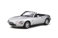 MAZDA MX-5 1990 SILVERSTONE SILVER 1/18 SCALE CAR BY OTTOMOBILE OT321