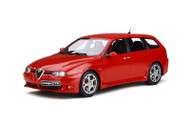 ALFA ROMEO 156 GTA SPORTWAGON 2002 ROSSO RED 1/18 SCALE CAR BY OTTOMOBILE OT746