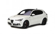 ALFA ROMEO STELVIO QUADRIFOGLIO WITH SUNROOF WHITE 1/18 SCALE CAR BY OTTOMOBILE OT830