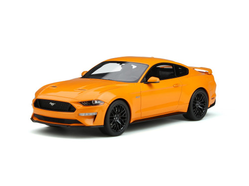 2019 FORD MUSTANG GT ORANGE FURY 1/18 SCALE CAR BY GT SPIRIT GT205