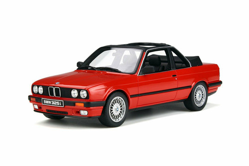 BMW E30 BAUR CONVERTIBLE BRILLIANT ROT RED LIMITED EDITION 1/18 SCALE CAR BY OTTOMOBILE OT767