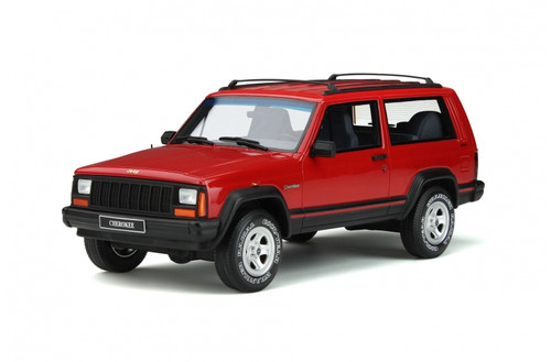 JEEP CHEROKEE 2.5 EFI 4x4 1995 RED LIMITED EDITION 999 PIECES 1/18 SCALE CAR BY OTTOMOBILE OT738