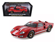 1966 Ford GT40 GT 40 Mark II Red 1/18 Scale Diecast Car Model By Shelby Collectibles SC400