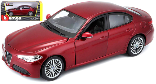 ALFA ROMEO GIULIA RED 1/24 SCALE DIECAST CAR MODEL BY BBURAGO 21080