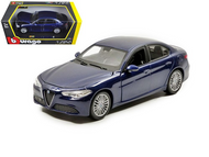ALFA ROMEO GIULIA BLUE 1/24 SCALE DIECAST CAR MODEL BY BBURAGO 21080