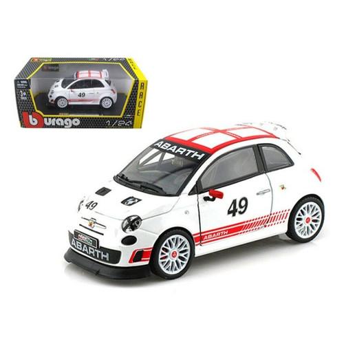 FIAT ABARTH 500 #49 CORSE RACE 1/24 SCALE DIECAST CAR MODEL BY BBURAGO 28101