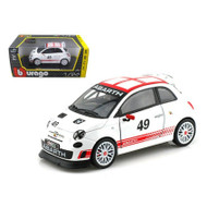 FIAT ABARTH 500 #49 CORSE RACE 1/24 SCALE DIECAST CAR MODEL BY BBURAGO 28101