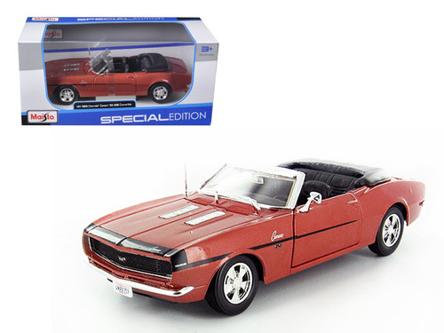 1968 Chevrolet Camaro SS 396 Convertible Bronze 1/24 Scale Diecast Car Model By Maisto 31257