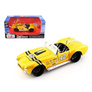 1965 Shelby Cobra 427 S/C Yellow 1/24 Scale Diecast Car Model By Maisto 31325