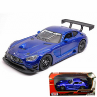 Mercedes Benz AMG GT3 Blue 1/24 Scale Diecast Car Model By Motor Max 73386