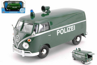 Volkswagen Type 2 T1 Delivery Van Bus Polizei Green 1/24 Diecast Car Model By Motor Max 79574