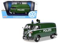 Volkswagen Type 2 T1 Delivery Van Bus Polizei Green 1/24 Diecast Car Model By Motor Max 79574