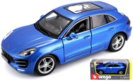 PORSCHE MACAN BLUE METALLIC 1/24 SCALE DIECAST CAR MODEL BY BBURAGO 21077