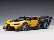BUGATTI VISION GRAN TURISMO GIALLO MIDAS BLACK CARBON SUPERCAR 1/18 SCALE MODEL CAR BY AUTOART 70989