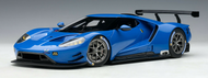 FORD GT LE MANS PLAIN COLOR VERSION LIGHTNING BLUE 1/18 SCALE CAR MODEL BY AUTOART 81812