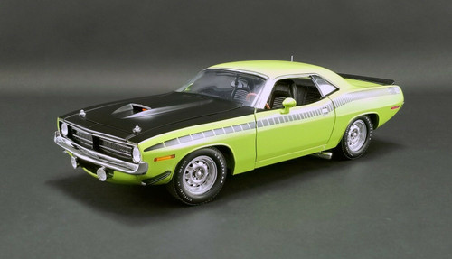 1970 PLYMOUTH BARRACUDA AAR SUBLIME GREEN 1/18 SCALE DIECAST CAR MODEL BY ACME A 1806113