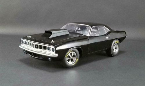 1971 PLYMOUTH DRAG BARRACUDA GLOSS BLACK LIMITED EDITION 1/18 SCALE DIECAST CAR MODEL BY ACME A 1806110