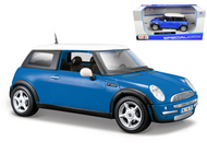 Mini Cooper Blue 1/24 Scale Diecast Car Model By Maisto 31219