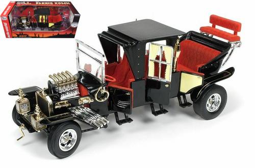 George Barris Munsters Koach Black 1/18 Scale Diecast Car Model Auto World AW233