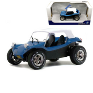 MEYERS MANX BUGGY BLUE WITH WHITE SOFT TOP 1/18 SCALE DIECAST CAR MODEL BY SOLIDO S1802701