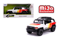 TOYOTA FJ CRUISER CUSTOM WHITE LIMITED EDITION MIJO EXCLUSIVE JUST TRUCKS 1/24 SCALE DIECAST MODEL BY JADA TOYS 31596