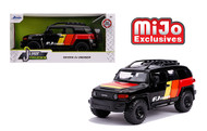 TOYOTA FJ CRUISER CUSTOM BLACK LIMITED EDITION MIJO EXCLUSIVE JUST TRUCKS 1/24 SCALE DIECAST MODEL BY JADA TOYS 31595