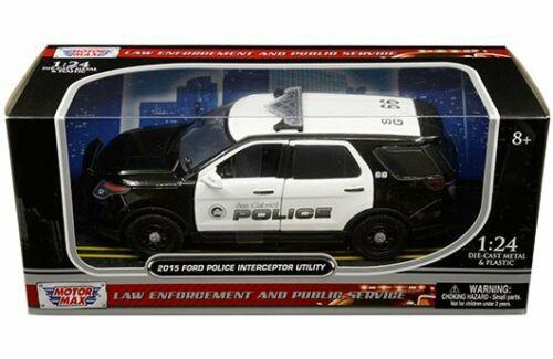 2015 Ford Police Interceptor SUV San Gabriel 1/24 Scale Diecast Model By Motor Max 76964