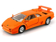 Lamborghini Diablo Orange 1/24 Scale Diecast Car Model By Bburago 22086