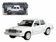 1982 Dodge Aries K White 1/24 Scale Diecast Car Model By Motor Max 73335