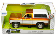 1980 CHEVROLET BLAZER K5 COPPER & WHITE JUST TRUCKS 1/24 SCALE DIECAST CAR MODEL BY JADA TOYS 31591