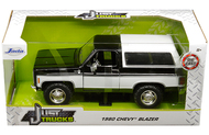 1980 CHEVROLET BLAZER K5 BLACK & WHITE JUST TRUCKS 1/24 SCALE DIECAST CAR MODEL BY JADA TOYS 31592