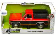 1980 CHEVROLET BLAZER K5 RED & BLACK JUST TRUCKS 1/24 SCALE DIECAST CAR MODEL BY JADA TOYS 31593