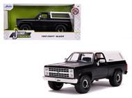 1980 CHEVROLET BLAZER K5 4X4 OFF ROAD MATTE BLACK JUST TRUCKS 1/24 SCALE DIECAST CAR MODEL BY JADA TOYS 31590