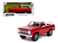 1980 CHEVROLET BLAZER K5 4X4 OFF ROAD METALLIC RED JUST TRUCKS 1/24 SCALE DIECAST CAR MODEL BY JADA TOYS 31594